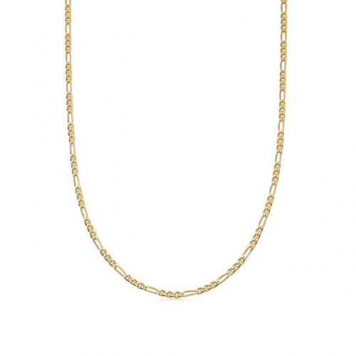 Gold Curb Chain Necklaces